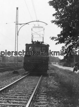 Monheim nahe Düsseldorf - Bahn der Stadt Monheim - E-Lok für den Güterverkehr