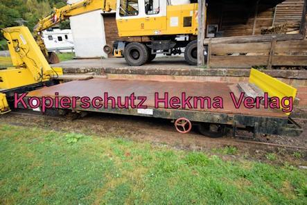 Kuckucksbähnel - Neustadt-Elmstein - Erfenstein Bahnhof - Kleinwagen 03 0447-7 - Gleiskraftwagenanhänger Kls. 03