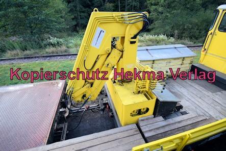Kuckucksbähnel - Neustadt-Elmstein - Erfenstein Bahnhof - Schweres Nebenfahrzeug 99 80 9685 013-1 - Gleiskraftwagen Klv. 53