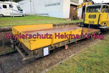 Kuckucksbähnel - Neustadt-Elmstein - Erfenstein Bahnhof - Kleinwagen 03 0659-7 - Gleiskraftwagenanhänger Kla. 03