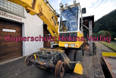 Kuckucksbähnel - Neustadt-Elmstein - Erfenstein Bahnhof - Kleinwagen 97 51 60 552 60-3 - Zweiwegebagger A 902 ZW